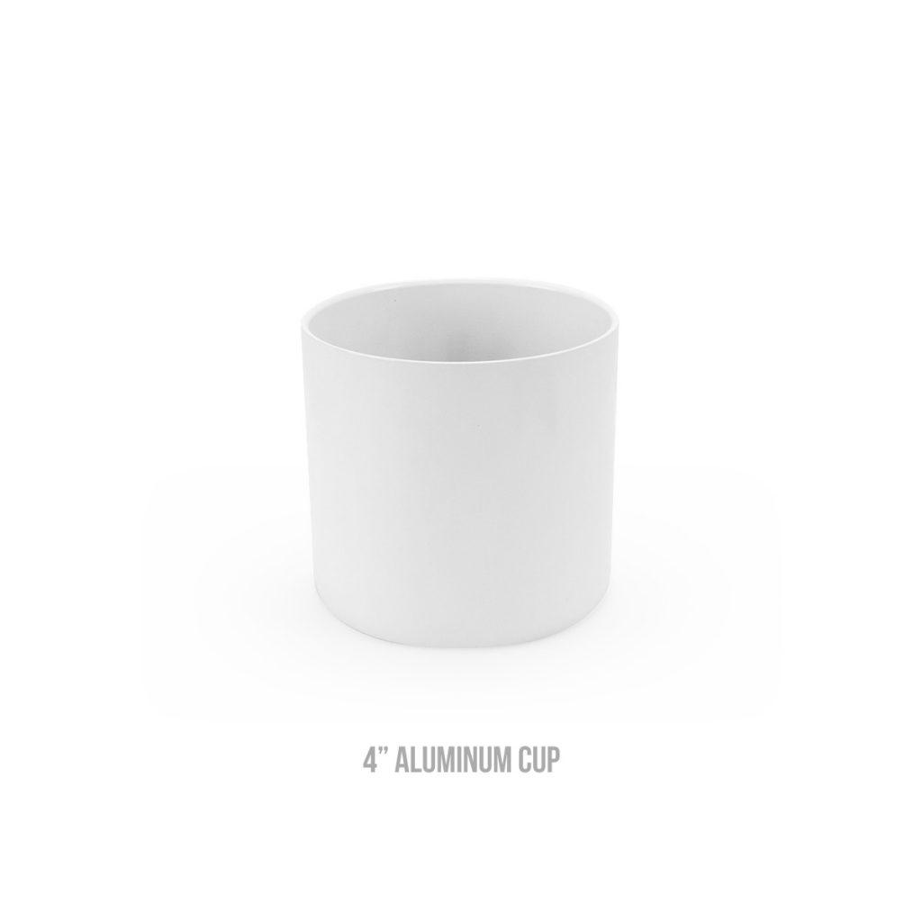 4 inch aluminum cup
