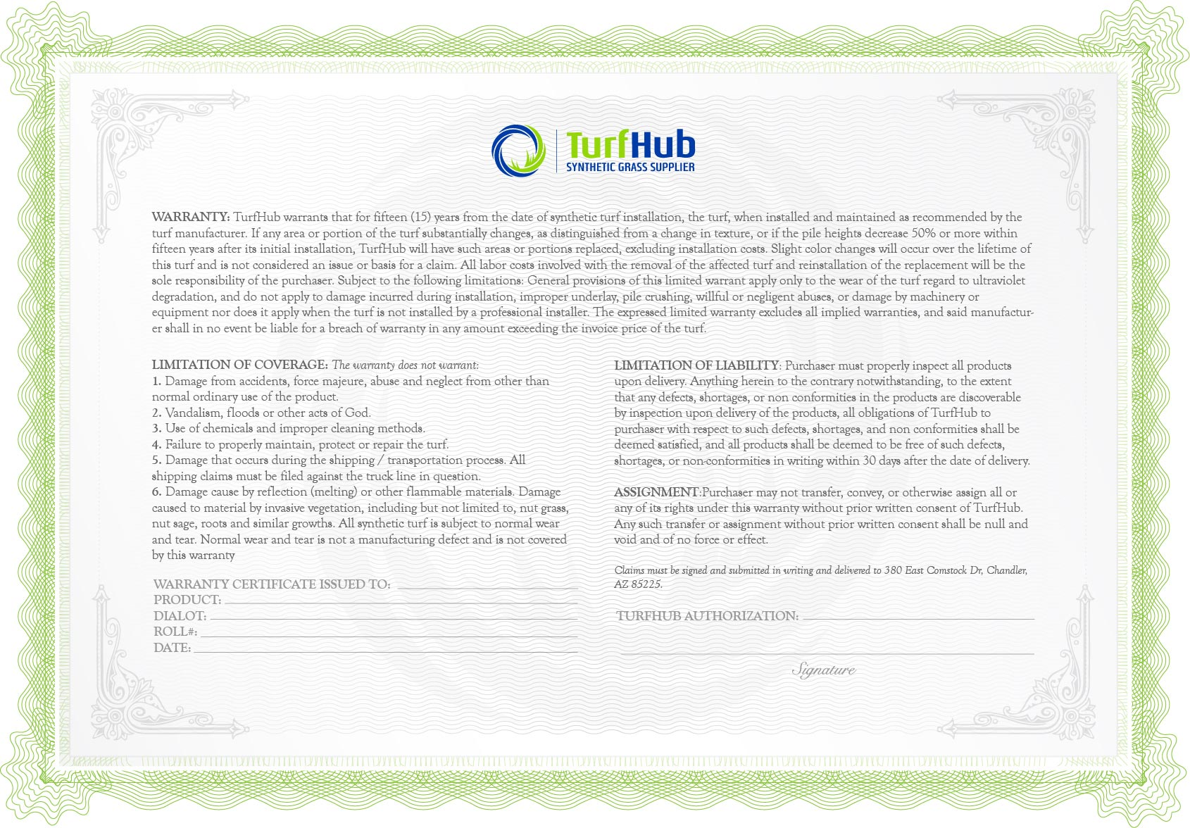 turfhub warranty old
